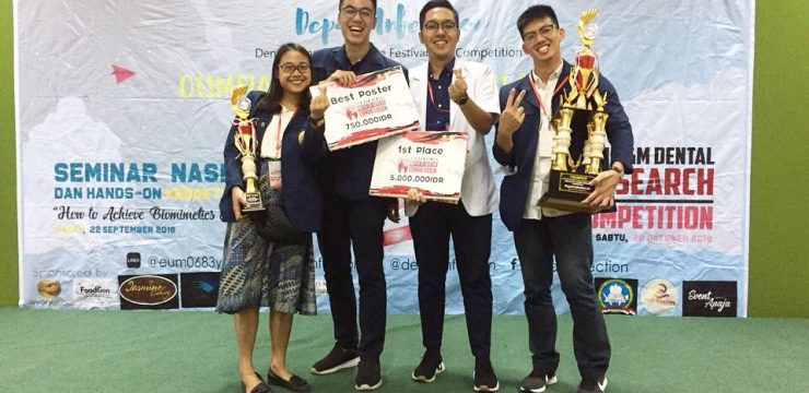 Congratulation for Students! 1st Winner of Research Competition and Best Poster in Dental Student Research Competition (DSRC) Gadjah Mada Univ. Yogyakarta
